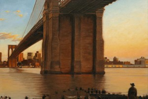 Brooklyn Bridge,Sunset,New York,NYC