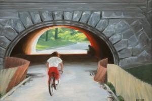 Cyclist, Central Park,NYC
