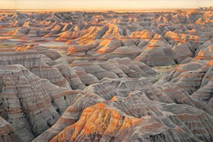 "Badlands (""the Wall"") At Sunrise"