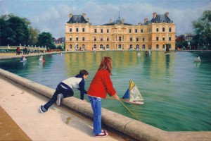 Boating in the Luxembourg Gardens, Paris