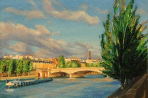 The Pont du Carrousel at Sunrise, Paris