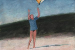 Kite Flying on Menemsha Beach, Martha's Vineyard