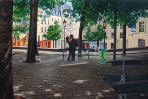 Lovers in Montmartre