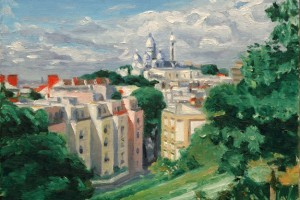 A View of Paris with the Sacre Coeur