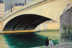 Couple under the Pont de la Tournelle, Paris