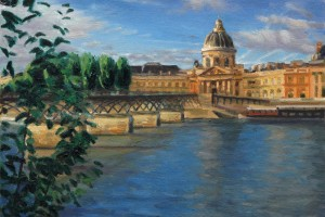 The Pont des Arts and the French Institute at Sunrise, Paris