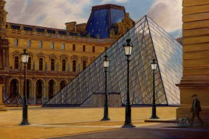 The Louvre in Morning Light, Paris