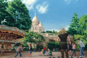 Playground at Sacre Coeur, Paris