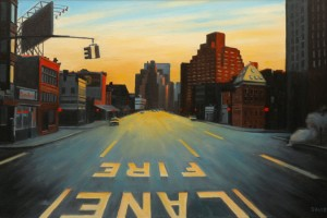 Sunrise on Seventh Avenue, oil painting by Nick Savides